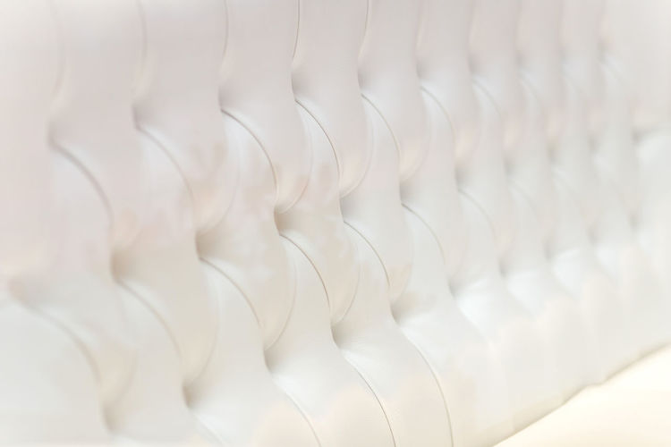 Luxury and modern style sofa background with classic white leather texture of an old retro style white buttons White Color Backgrounds No People Full Frame Close-up Indoors  Pattern Textile Repetition In A Row Large Group Of Objects Abstract Focus On Foreground Day Softness Selective Focus Buttons Leather Seat Furniture Classic Close Up Details Pearl White Luxury