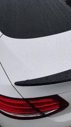 Mercedes Car Rain White Black Raindrops