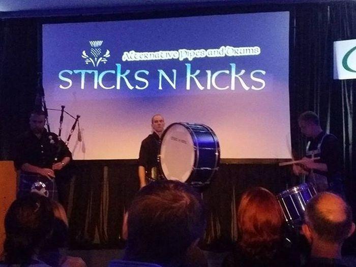 Last night's entertainment at TCK15 . Excellent alternative bagpipe tunes