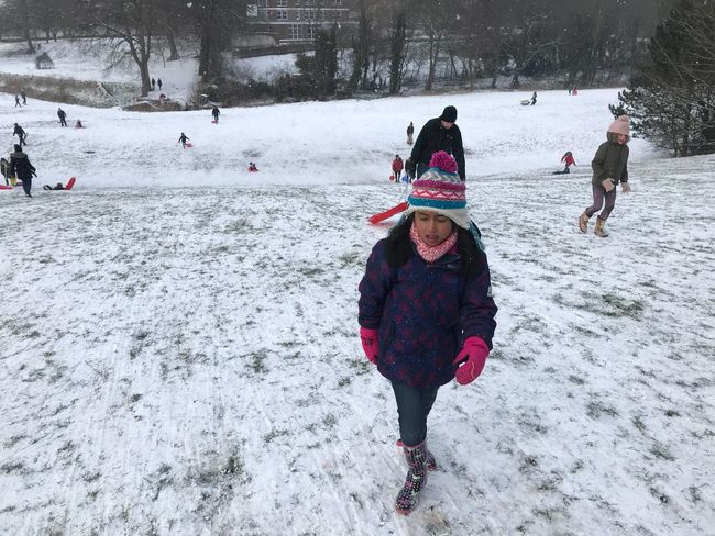 Beast From The East Amelia Miah Winter Snow Cold Temperature Playing Girls Childhood Full Length