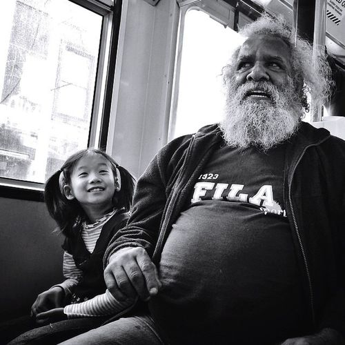 Tribe // Melbourne Smiling Real People Portrait Looking At Camera Senior Adult Happiness Family Cheerful Indoors  Bonding Love Two People Window Father Togetherness Lifestyles Day Sitting Men Adult Streetphotography Blackandwhite Candid Melbourne The Street Photographer - 2017 EyeEm Awards