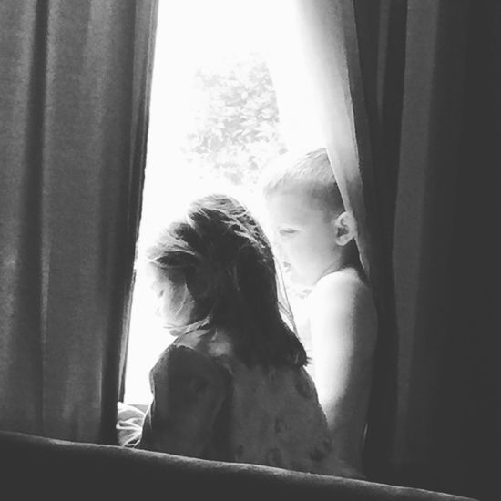 Hello World Window Indoors  Togetherness Hanging Out SoberLife  Single Dad Life My Beautiful Kids Rainy Days Blackandwhite Photography