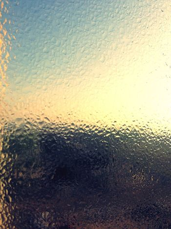 Window Morning Morning Light Due Droplets EyeEm Best Shots Backgrounds Full Frame Nature No People Water Close-up Indoors  Beauty In Nature Sky Day