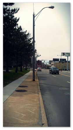 The City Sidewalk Nature City Life New Photo Edited Pixlr Taken With Smartphone 5megapixels Taking Photos New Adventures Canton,Ohio Cars Nice Day Trees And Sky vanishing point Kneeling Tree Road Road Sign Car Land Vehicle Street Stoplight Sky