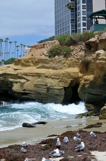Architecture Beach Photography Been There. Daytime La Jolla Beach La Jolla, California Nature San Diego Sunny Beach Been There, Done That Buildings La Jolla Ocean Outdoors Waves Waves And Rocks Waves Crashing On Rocks