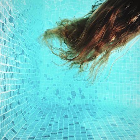 Blue Pool Water Hair Underwater