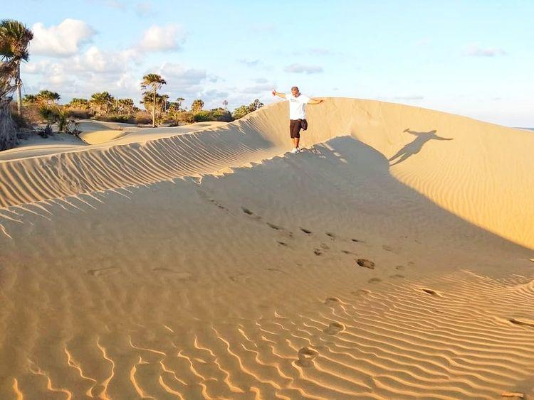 Sand Dune Full Length Desert Sand Beach Adventure Sky Cloud - Sky