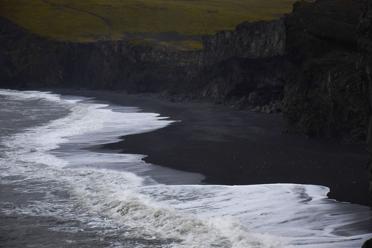 The Black Beach, Iceland Beach Beachphotography Beauty In Nature Day Landscape Natural Parkland Nature No People Outdoors Power In Nature Rock - Object Scenics Sea Sea And Sky Surf Waterfall Wave