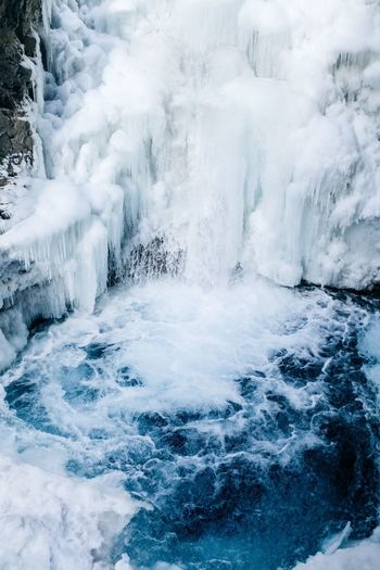 Canada Canada Beauty In Nature Motion Nature Water Long Exposure Power In Nature No People Scenics Day Waterfall Outdoors Winter Cold Temperature