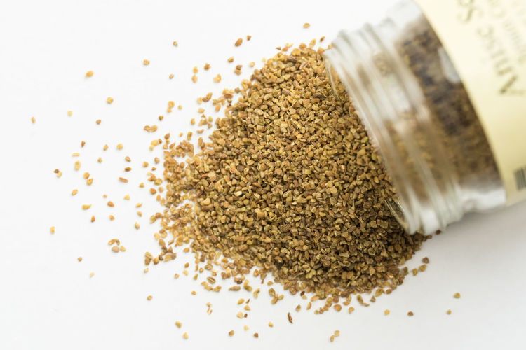 Anise Seeds Spilling from Spice Jar Food And Drink Ingredient Food Spice Close-up Jar Anise Seeds Macro Isolatd Nobody Spilling No People Container Seasoning
