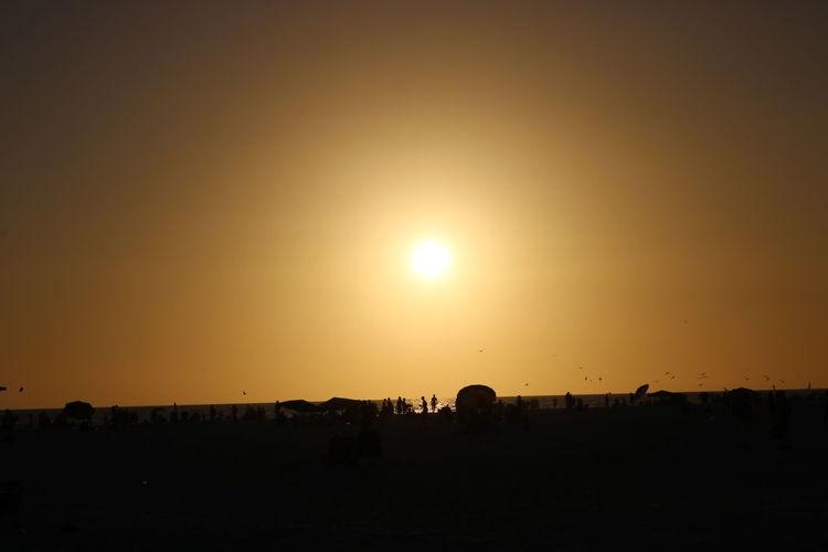 Beauty In Nature Landscape Nature Orange Color Outdoors Sky Sun Sunset Sunset,sarasota,white Sands, Ocean, Beach, Sun, Evening,