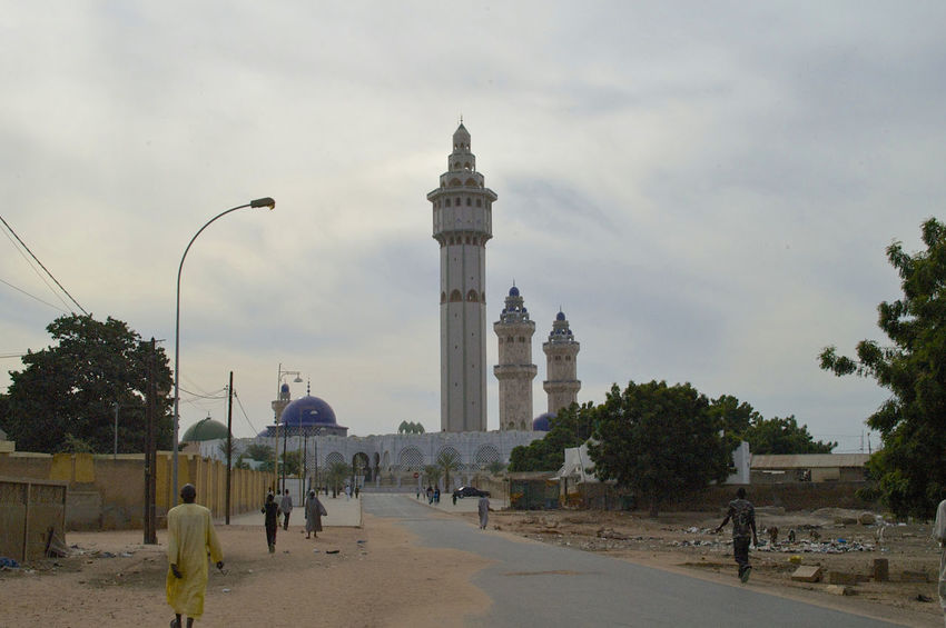 Grand mosque of Touba in Senegal Bamba West Africa Africa Architecture Building Exterior Built Structure Day Holy City Minaret Minarets Mosque Senegal Touba Travel Destinations