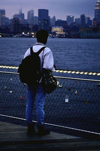 Stranger Danger Nikon Photography Sinatrapark Hoboken Nyc's View From Hoboken Lock Eye For Photography EyeEm Best Edits 50mm EyeEm Best Shots