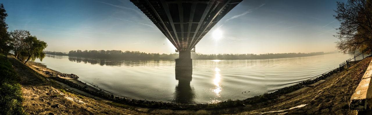 Autumn Bridge Bridge On Danube Budapest Danube Danube River Duna Panorama Panoramas Reflection Water Reflections