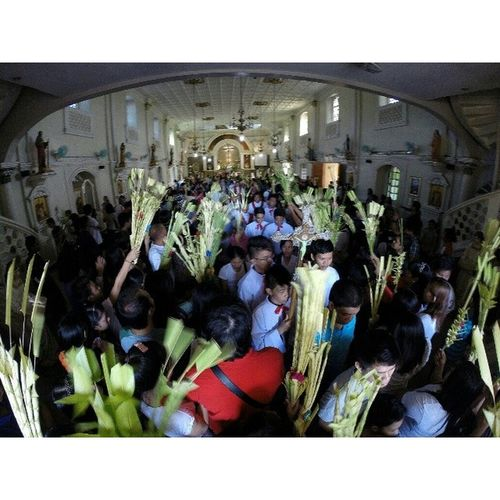 Palm Sunday at Calauan, Laguna Visitaiglesia2014 Lenten2014 Travel Themanansala gopro