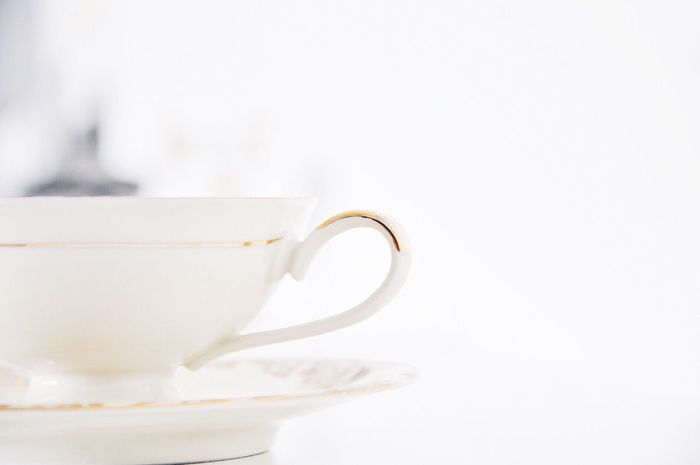 Close-up Of Antique Porcelain Tea Cup Food And Drink Drink Close-up Indoors  No People Refreshment White Background Freshness Day Horizontal Focus On Foreground Photography Color Image Porcelain  Tea Cup Fragile High Key Kitchenware Saucer Tea Mug Tableware