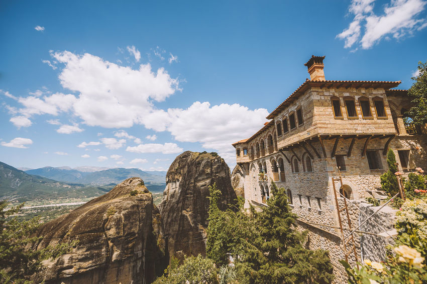 Lost In The Landscape Ancient Civilization Architecture Beauty In Nature Building Exterior Cloud - Sky Day History Low Angle View Mountain Nature No People Outdoors Sky Travel Destinations Tree