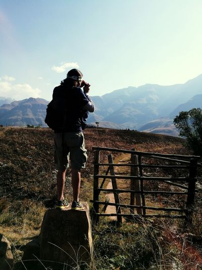 One Person Standing Mountain Outdoors Nature Landscape Tranquility Trail Traveling Photography Travel Destination Let's Go. Together.