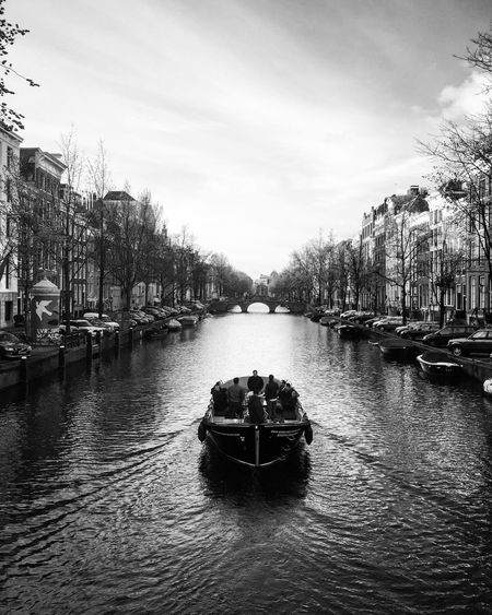 Amsterdam Holland Netherlands Canal Canals Water Boat Romantic Travel Black & White Black And White Black And White Photography The Essence Of Summer Original Experiences Fine Art Photography On The Way Monochrome Photography TakeoverContrast The Great Outdoors - 2017 EyeEm Awards An Eye For Travel Mobility In Mega Cities