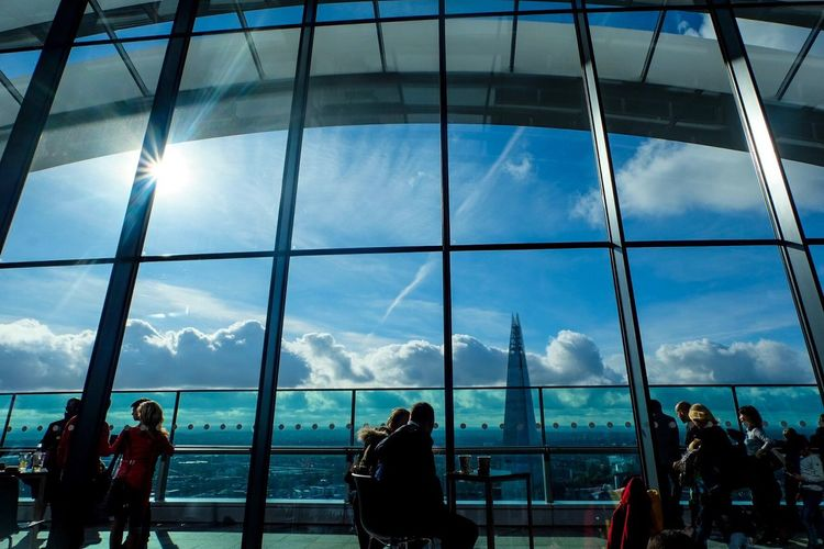 Skygarden London Skygarden London Cloud - Sky Women Sky Real People Window Men Indoors  Lifestyles Built Structure Leisure Activity Large Group Of People Modern Architecture Day Airport Building Exterior Adult Nature People Adults Only Postcode Postcards
