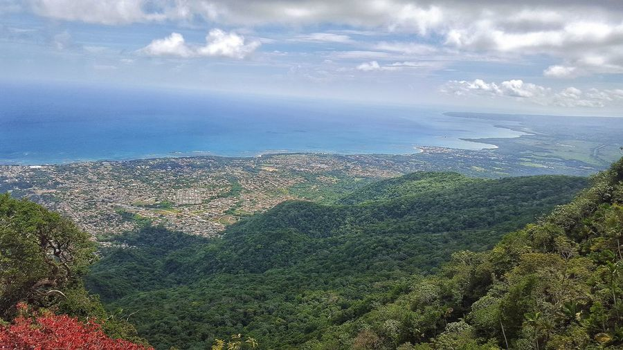 🌊🚠⛅ Teleferic View Dominican Republic Nature Clouds Montains    Beauty In Nature Sea Sky