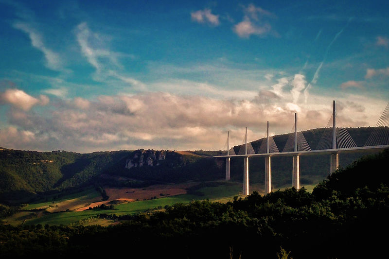 viaduc Bridge - Man Made Structure Bridge Landscape Countryside No People Sky Technology Mountain Outdoors Day Nature