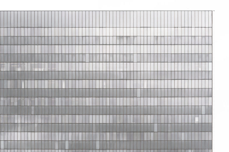 Abstract Backgrounds Blank Business Clean Close-up Copy Space Cut Out Gray Hoff99 Metal Modern No People Pattern Silver - Metal Silver Colored Simplicity Single Object Steel Striped Studio Shot Textile Textured  Textured Effect White Background White Color