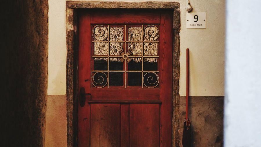 Old door in old