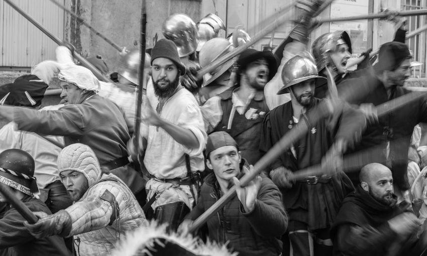 Roi De L'oiseau Historical Reconstruction Halberd Army Blackandwhite Fujifilm