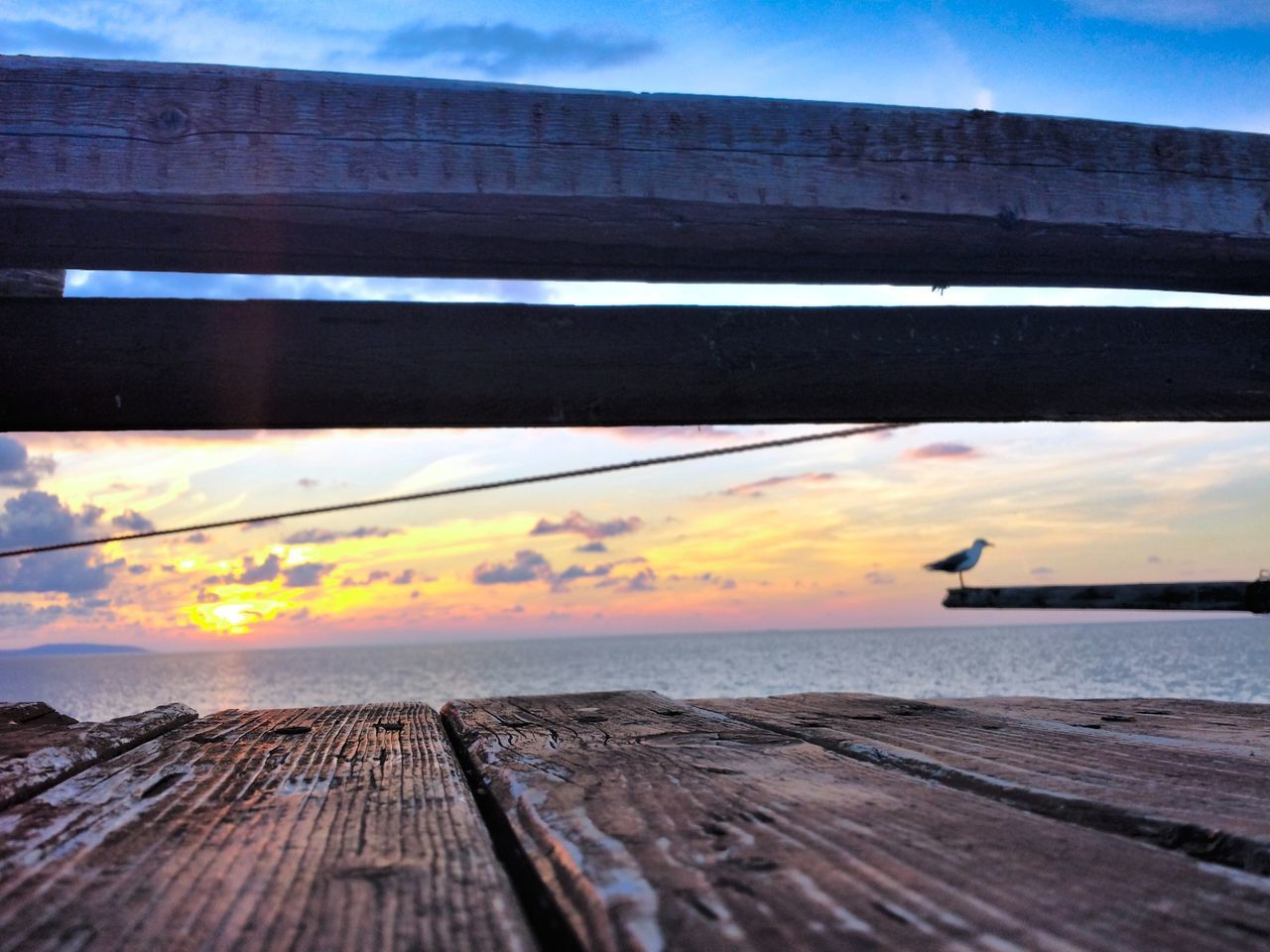 wood - material, sky, cloud - sky, sunset, outdoors, nature, no people, pier, tranquil scene, scenics, beauty in nature, day, water, horizon over water, sea, wood paneling