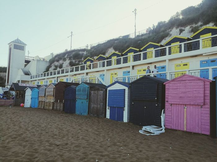 Sand Beach Architecture Day No People Built Structure Sky Outdoors Beach Life Beach Huts Pink Seaside_collection
