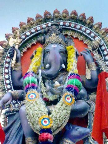 The Color Of Sport India Ganesh God's Beauty Statue Creativity Art Front View Colorful Karnataka Majestic ArtWork History Culture Curving Koppal Karnataka India Praveenrajpurohitunn