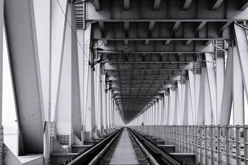 Railroad Track At Bridge