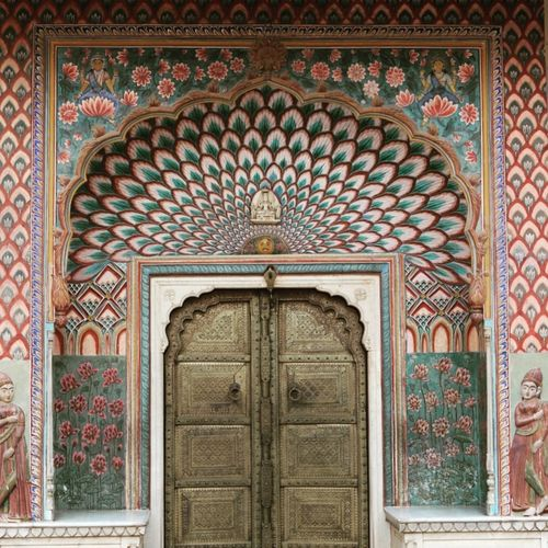 Door Pattern Arch Architecture Travel Destinations Wood - Material Built Structure No People Multi Colored India Rajasthan India Architecture Indiapictures Building Exterior Rajasthan_diaries Indiatravelgram Jaipur, India Indiaincredible Jaipur Diaries Textured