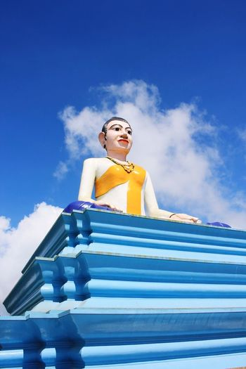 Miles Away Cambodia Bokor Mountain Buddha Southeastasia Blue Low Angle View Sky Beautiful Woman Day One Young Woman Only Young Adult Only Women One Person Young Women One Woman Only Outdoors People Adults Only Adult