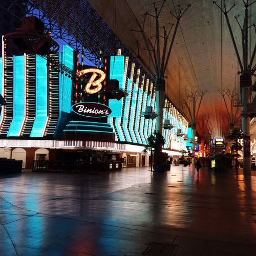 Fremont Street Experience at dawn Built Structure Architecture City Street City Life