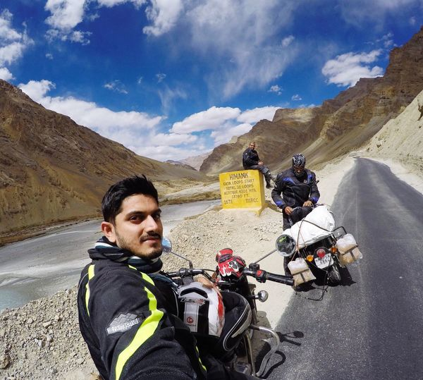 Connected By Travel Travel Destination Motorcycle Friends Ladakh India Leh Pitstop Life Happiness Happy Smile World Road Nature EyeEm Mountains Connected By Travel EyeEmNewHere Lost In The Landscape An Eye For Travel
