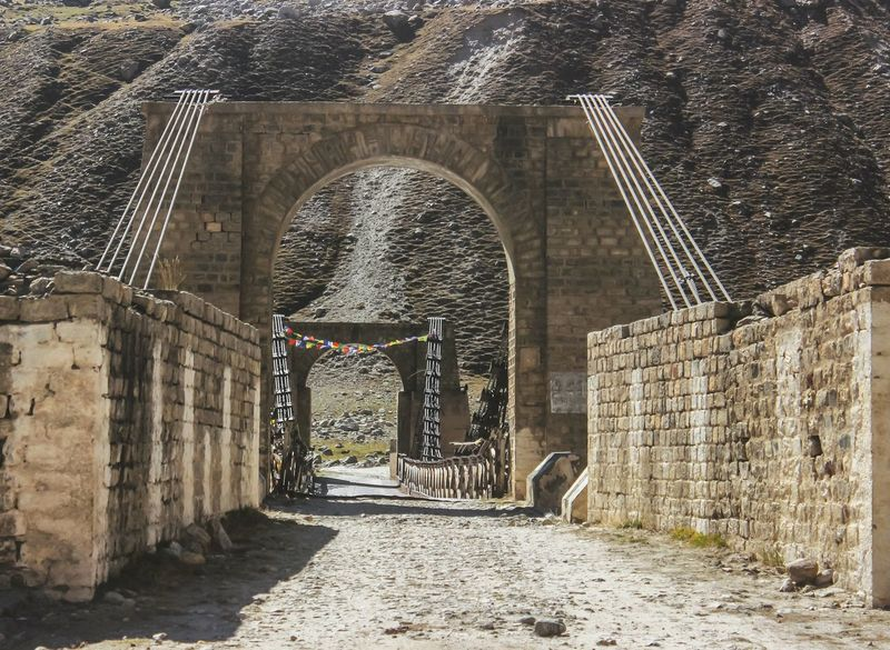 Bridge Northern India Himalayas Mountain Road Dailyphoto EyeEm Nature Lover EyeEmNewHere EyeEm Gallery India Nature Eyeemphotography Architecture Built Structure Entryway Arched Wall Architecture And Art Architectural Design Open Door Archway Entrance Entry Stone Wall