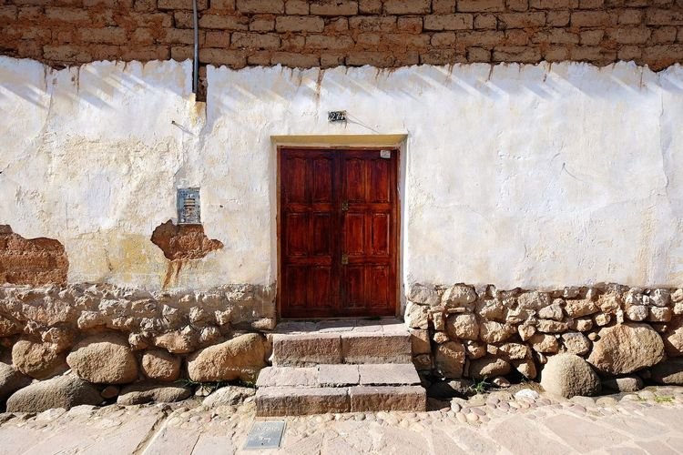 Door Day No People Built Structure Architecture Sunlight Outdoors Building Exterior Building House Home in Cusco, Peru