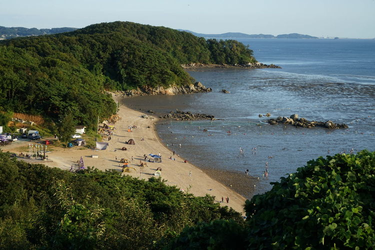 Holiday Incheon South Korea Tideland Beach Beauty In Nature Day Forest High Angle View Outdoors People Water Week On Eyeem Wide Angle