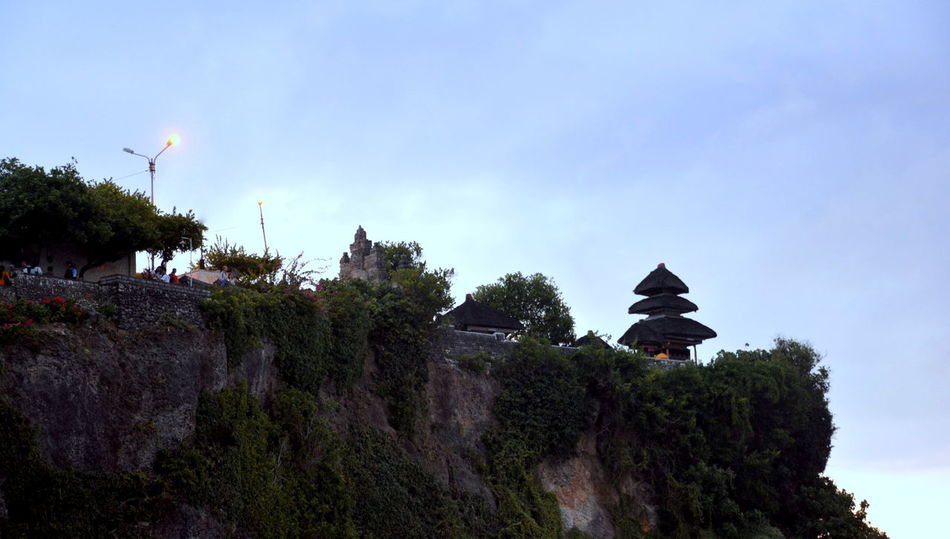 Bali, Indonesia Beauty In Nature Cloud - Sky Low Angle View Mountain Nature Outdoors Scenics Sea And Sky Sky Tanah Lot Tree