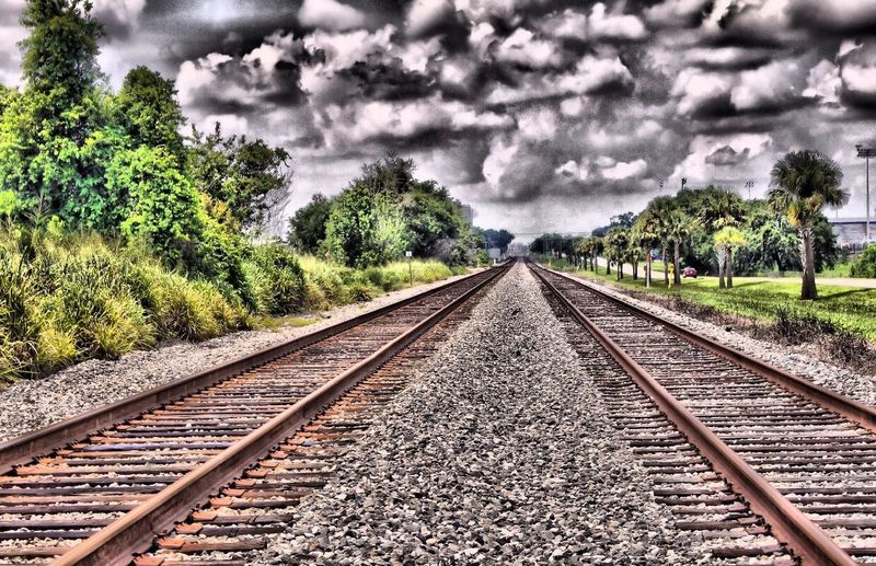Inspirational tracks. Train Tracks. Railroad. Thunderstorm In Making. Clouds. Artistic Wall Art. Abstract Art