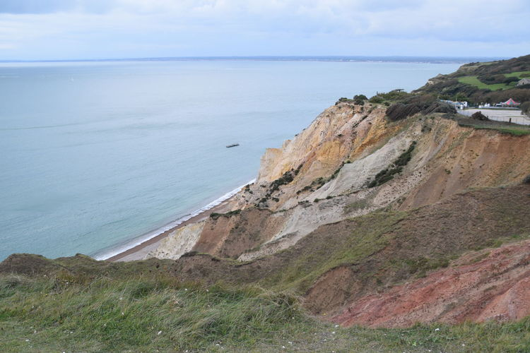 Scenic View Cliff Cliff Edge Cliff Walk Colours Of Nature Geology Ilse Of Wight Landscape_photography Outdoors Sea Photography Sea View Seascape See For Miles Walks In Nature