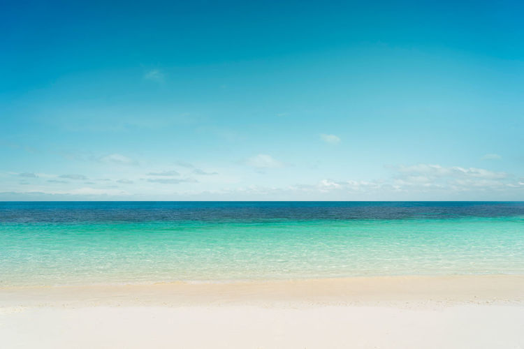 Beach Beauty In Nature Blue Cloud - Sky Day Horizon Horizon Over Water Idyllic Land Nature No People Outdoors Scenics - Nature Sea Sky Tranquil Scene Tranquility Travel Turquoise Colored Water
