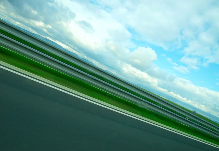 Traveling Long Exposure Long Distances Slovakia Abstract Abstract Composition Green&blue&grey Harmony On The Move