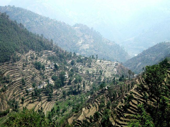 Himalayas Garhwal Agriculture Mountains Nature Natural Beauty Curves Yudhvir