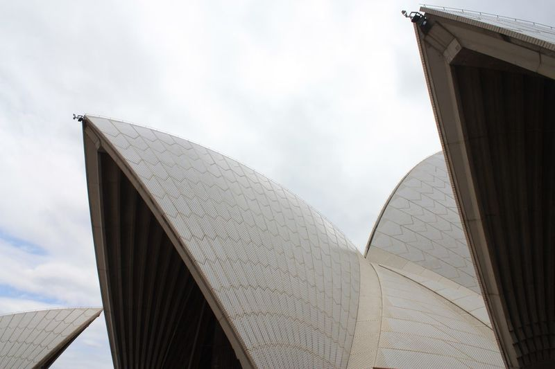 Sydney Opera House from close up Sydney Opera House EyeEm Selects Architecture Built Structure Building Exterior Low Angle View Outdoors Travel Destinations City No People Day Close-up Sky