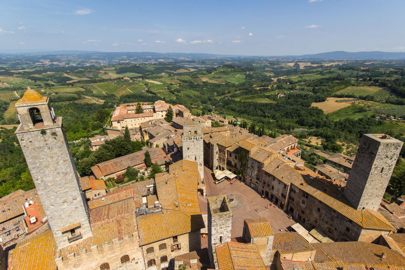 Tuscany Tower Directly Above Travel Destinations High Angle View Aerial View Cityscape City Perspectives On Nature