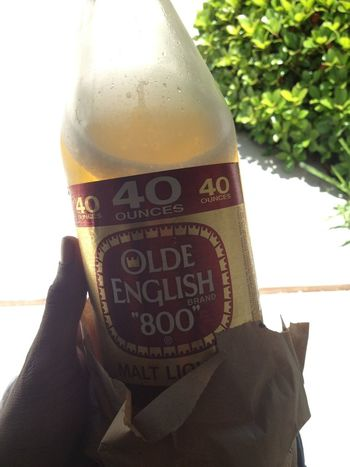 And all drink is 40s #fuccmyliver