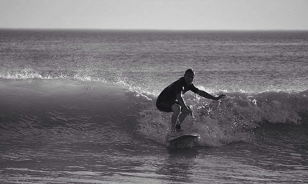 Surfing is such an amazing concept. You're taking on Nature with a little stick and saying, 'I'm gonna ride you!' And a lot of times Nature says, 'No you're not!' and crashes you to the bottom. (Jolene Blalock) Bwbeach Bw_collection Bw_friday_challenge Beachphotography